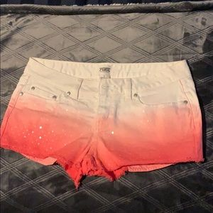 Pink brand jean shorts
